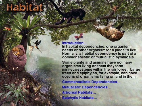 Habitat is one of only dozens of topics covered in The Rainforest.